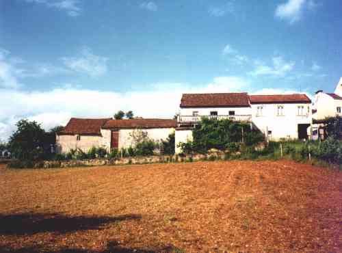 De achterkant van het huis