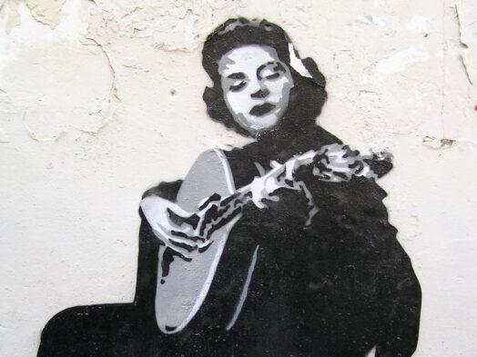 Amália Rodrigues, muurschildering in Lissabon