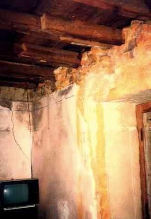 het plafond in de huiskamer