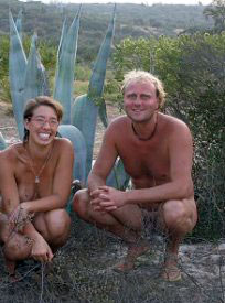 Jeff en Laura op hun terrein in 2005.