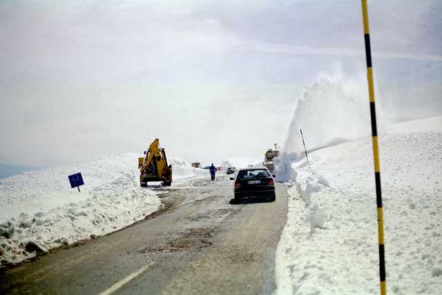 Sneeuwruimers aan het werk