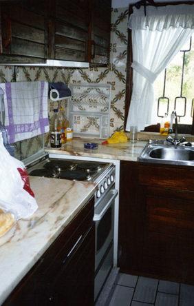 Een heel kleine keuken