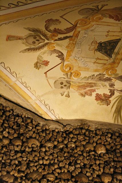 Detail plafondschildering