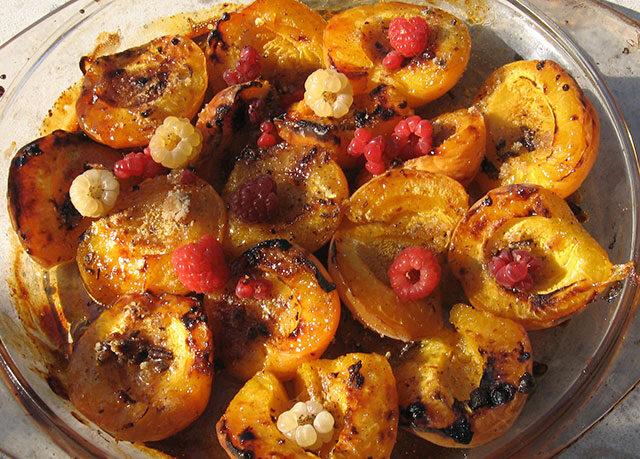 gegrilde abrikozen