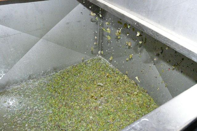 De pulp onder in de tank