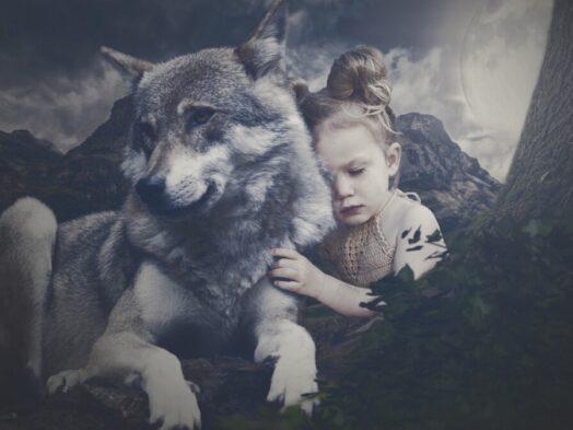 wolf en kind