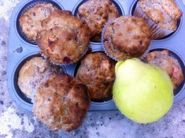 Kweepeer muffins
