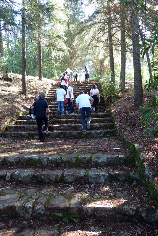 wandeling Maladão de trappen omhoog naar Mont'Alto
