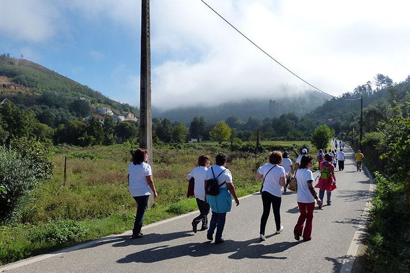 wandeling Maladão de weg omhoog naar Mont'Alto