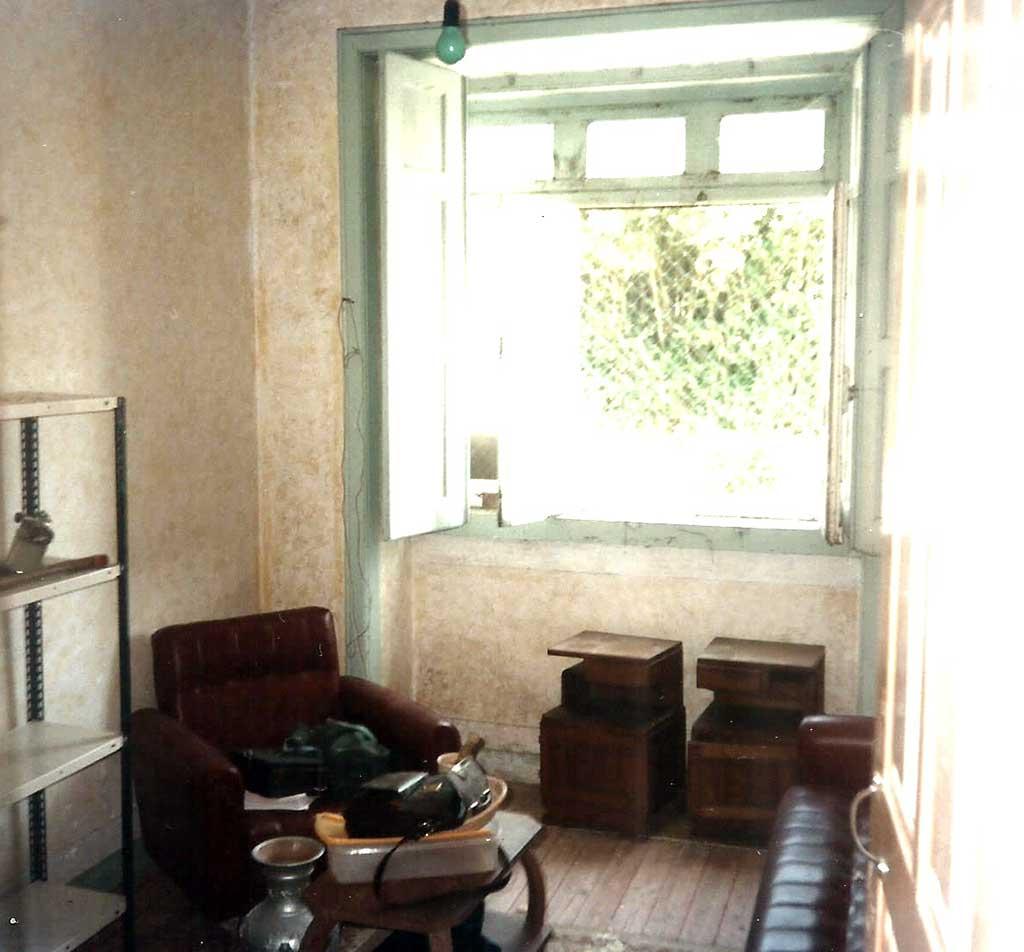 João Orlindo woonde in één kamertje