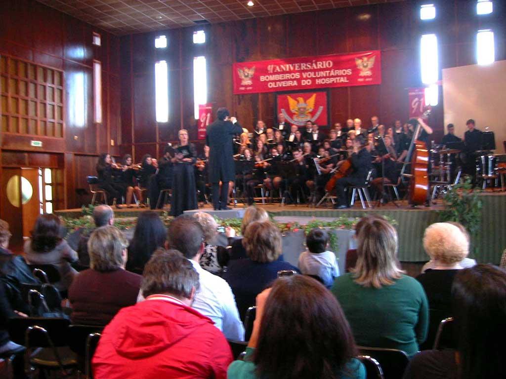 Optreden van het koor in Portugal met Greet Kistemaker als soliste