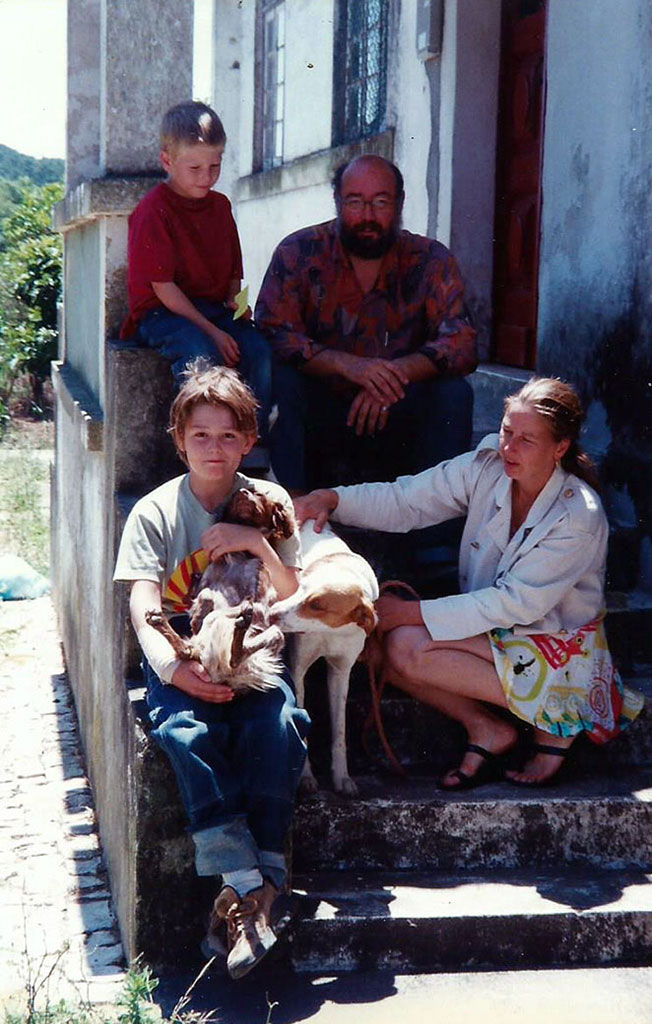 familieportret met onze honden