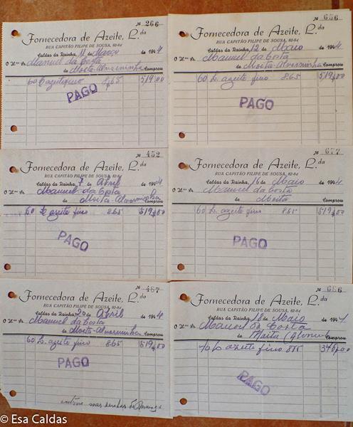 olijfolie facturen maart t/m mei 1944