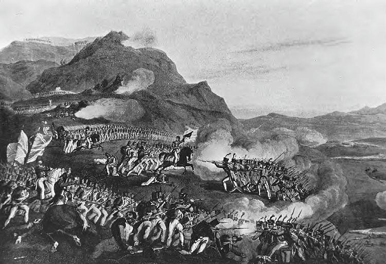 De slag bij Buçaco. Bron: Wikipedia