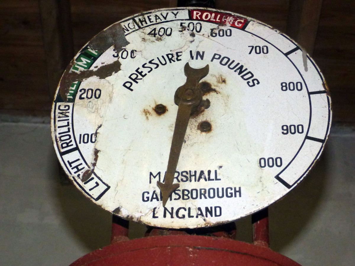drukmeter in Gorreana theefabriek