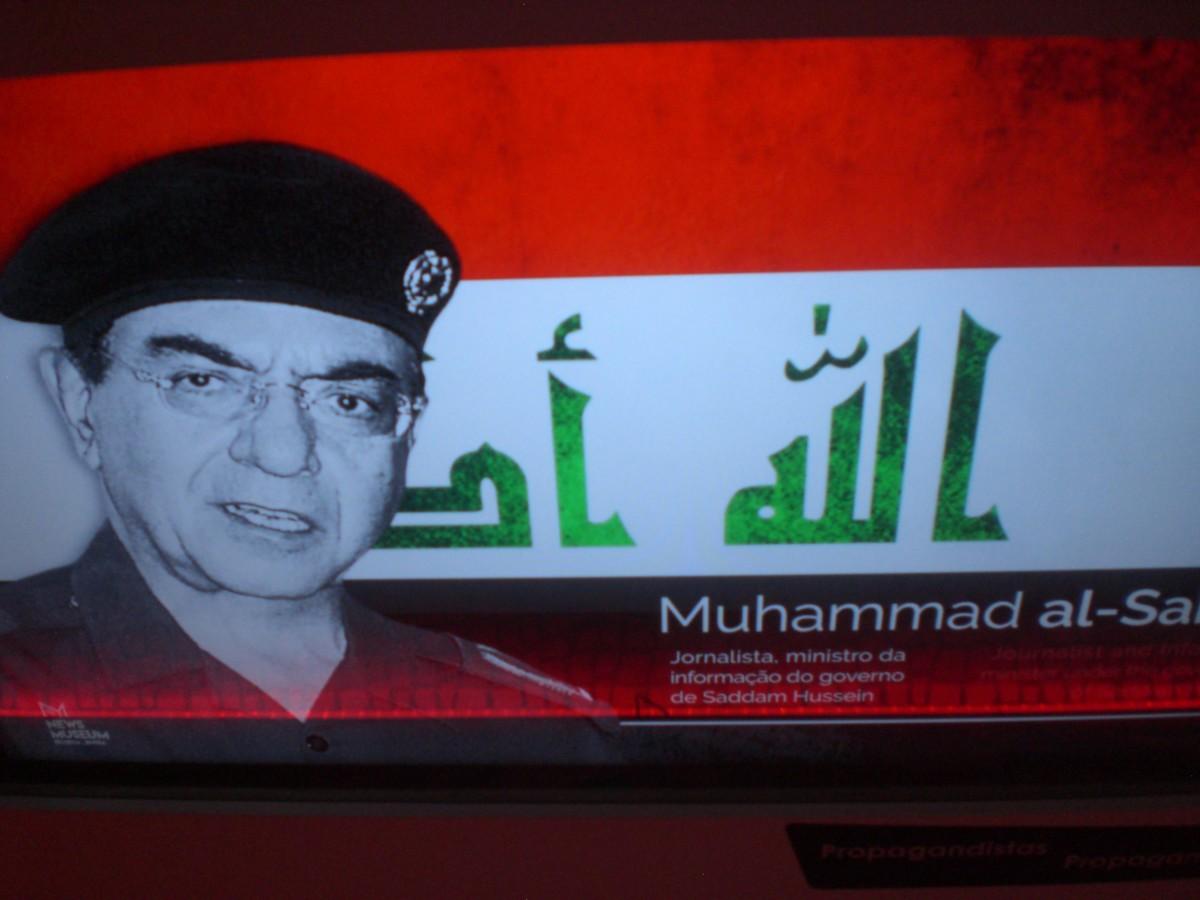 De Irakese Minister van Informatie ten tijde van de Golfoorlog