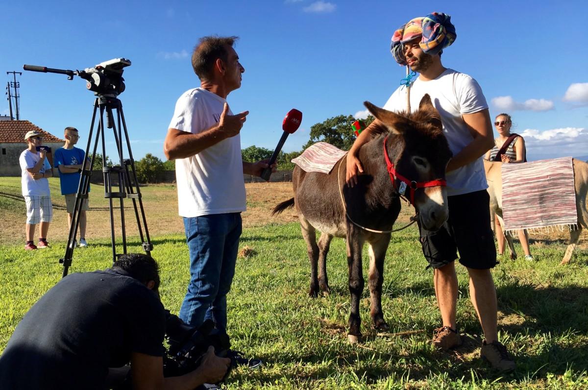 Interview met een deelnemer aan de ezelrace
