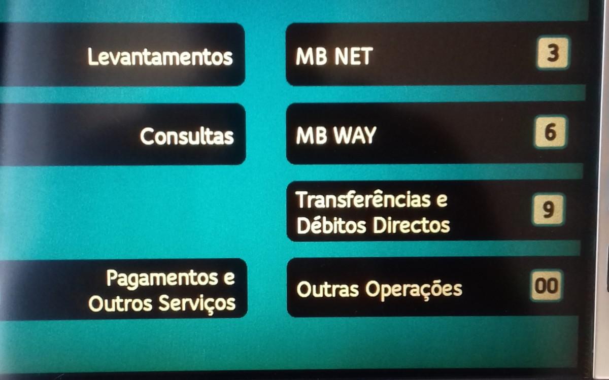 beeldscherm Portugese Multibanco automaat