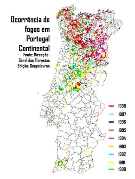 Branden in Portugal