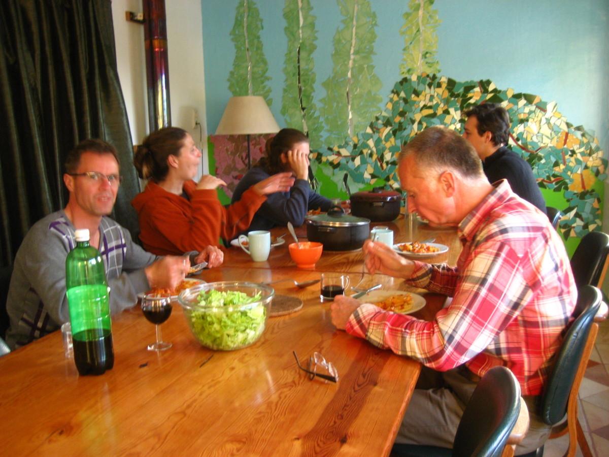 een chaotisch diner