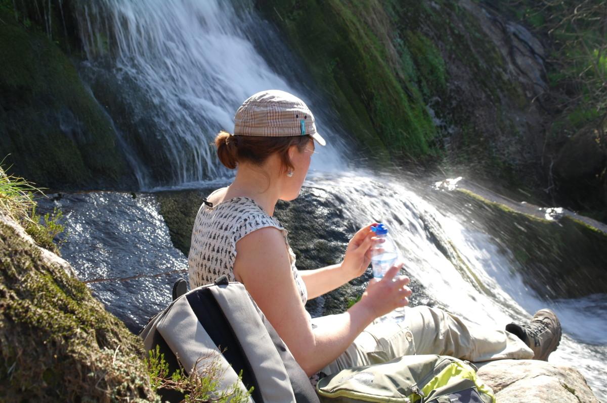lunch bij een waterval
