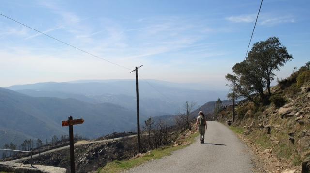 uitzicht bij de wandeling 'Nas Escarpas da Mizarela'