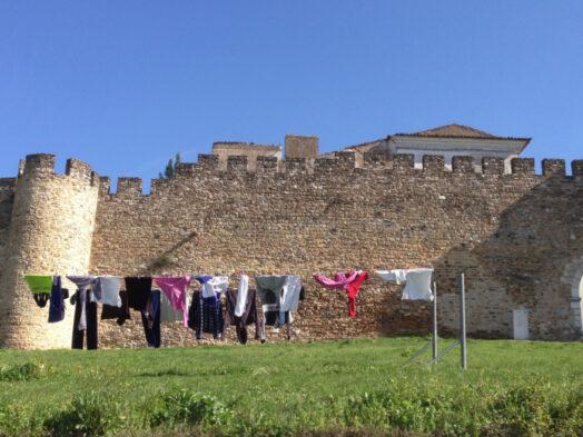 Estremoz, kasteel met waslijn