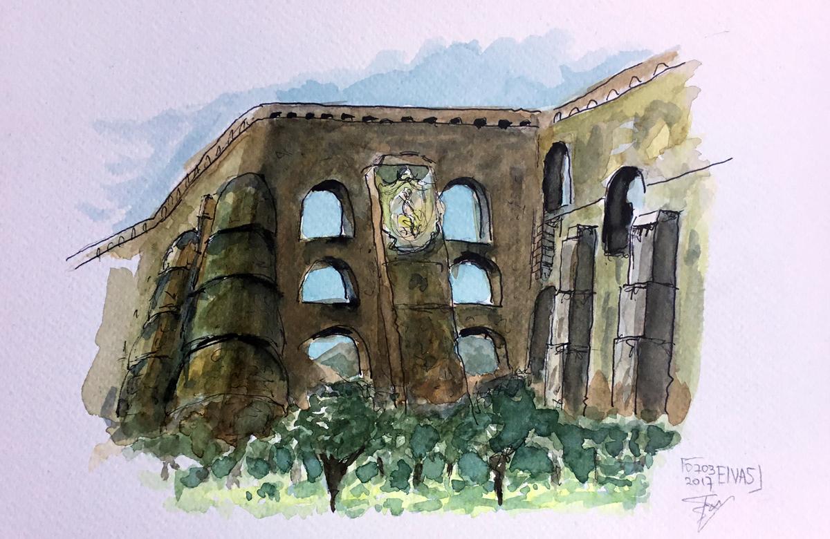 Aquaduto Da Amoreira. Illustratie Rienk Vlieger