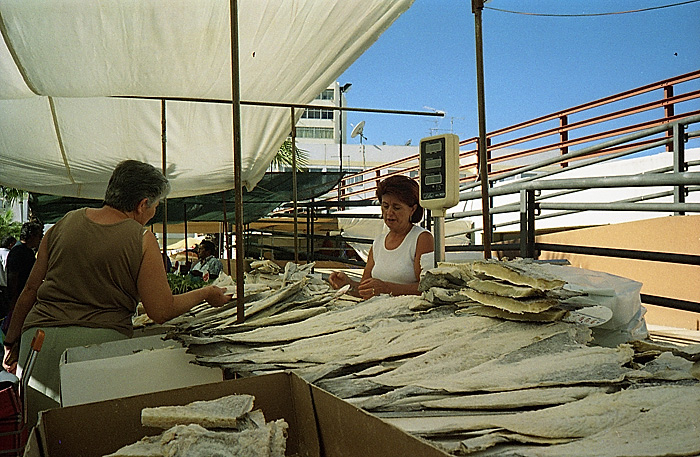 Bacalhau op de markt.