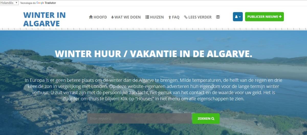 Overwinteren website in het Nederlands winterinalgarve Algarve Portugal