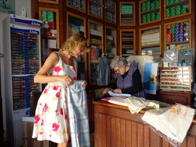 textielwinkeltje in de Alentejo