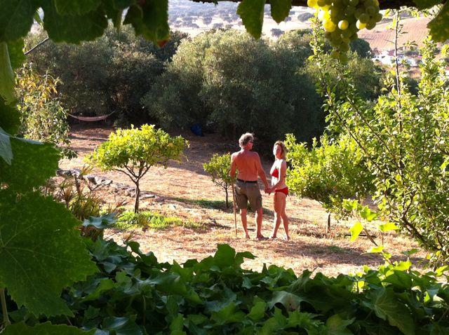 Marieke en haar vriend in Portugal