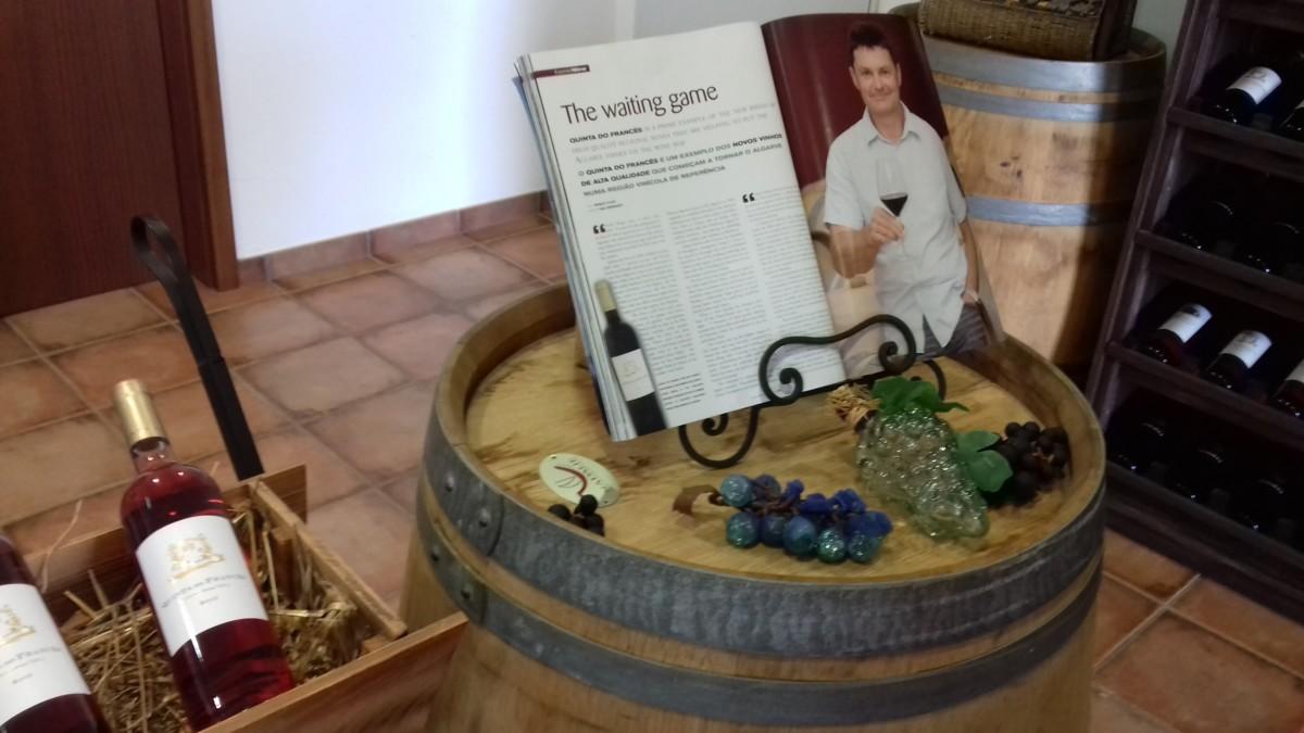 Wijnmaker Patrick Agostini van quinta do Frances in Silves, Portugal