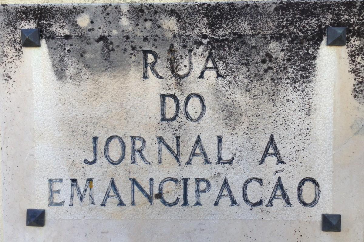Straatnaambord Rua do Jornal A Emancipação