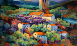 schilderij A Torre e a Violeta