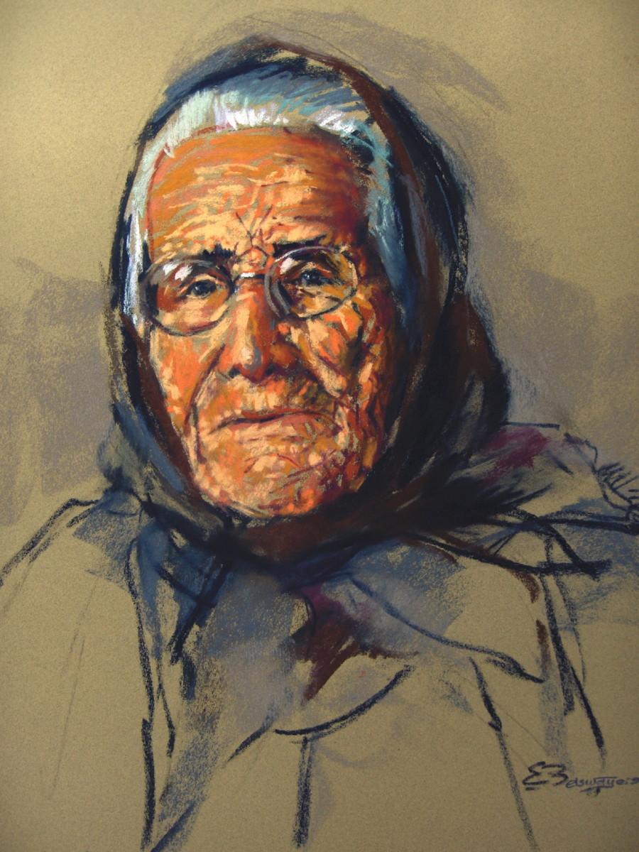 Portret schilderij van Dona Maria Jezus