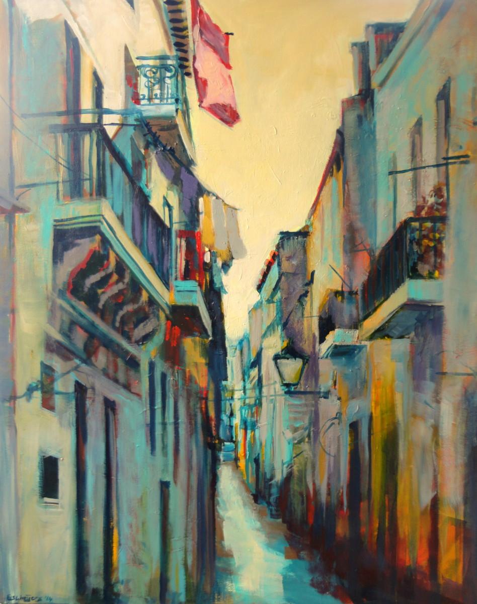 """schilderij """"Luz de Tarde na Rua"""""""