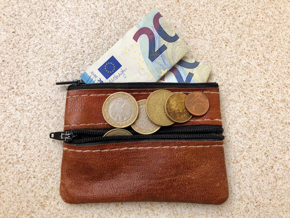Beursje met kleingeld