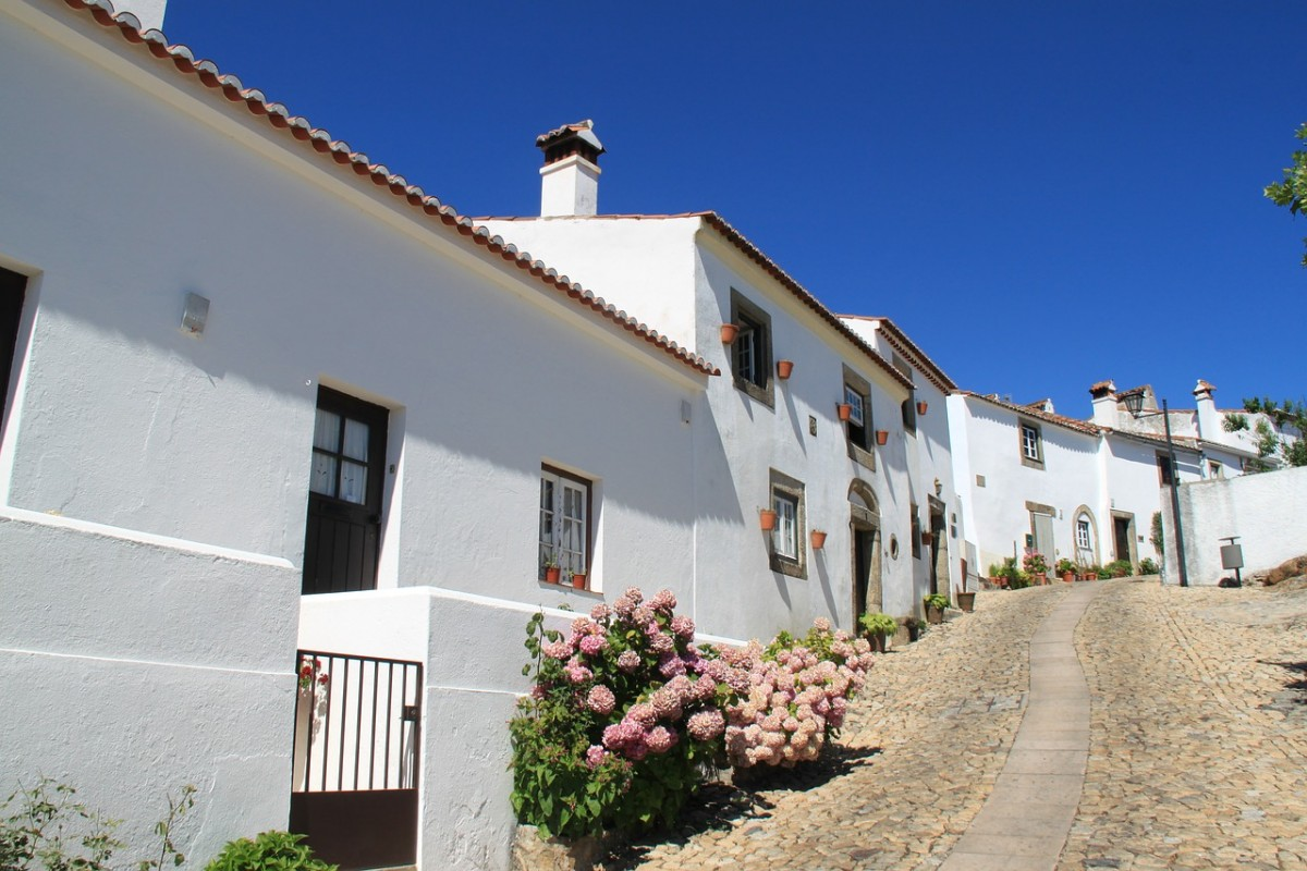 dorpje in Alentejo Portugal