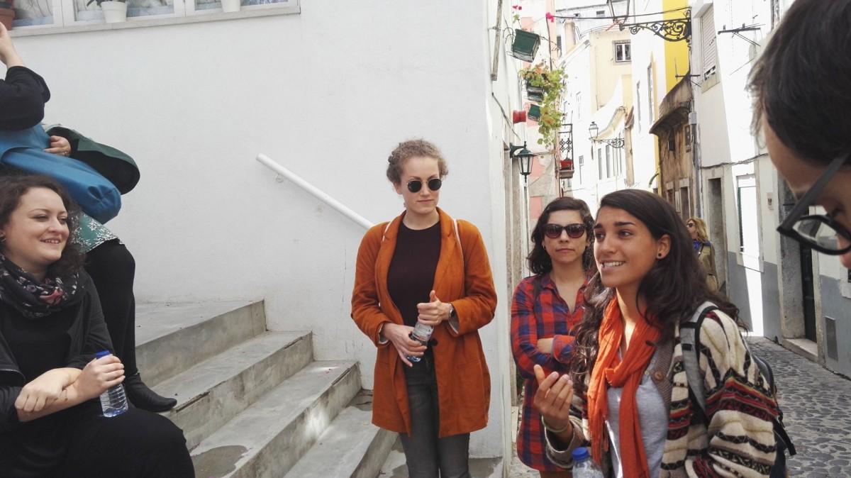 Groep toeristen