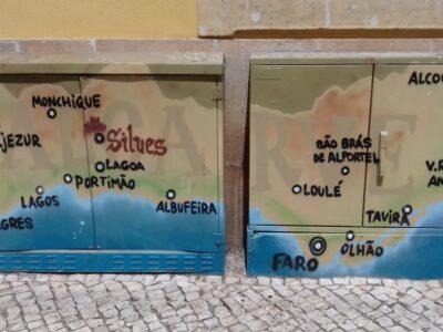 Algarve zuidkust Atlantische oceaan winter in algarve electrakasten