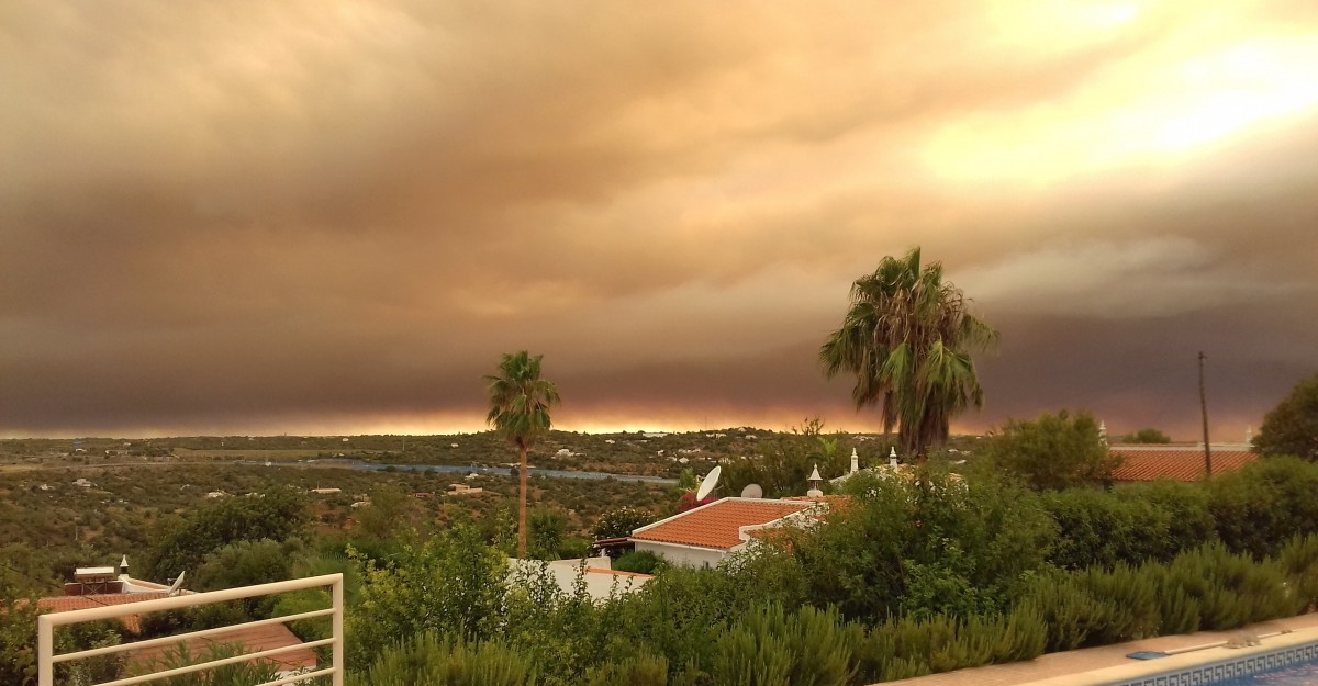 Rook van Monchique Algarve bosbranden