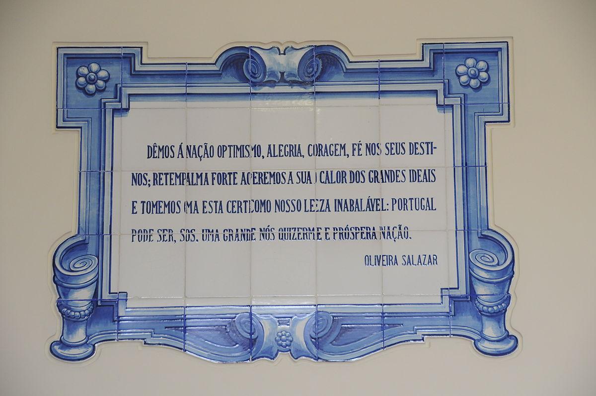 Tegeltableau met citaat van Salazar