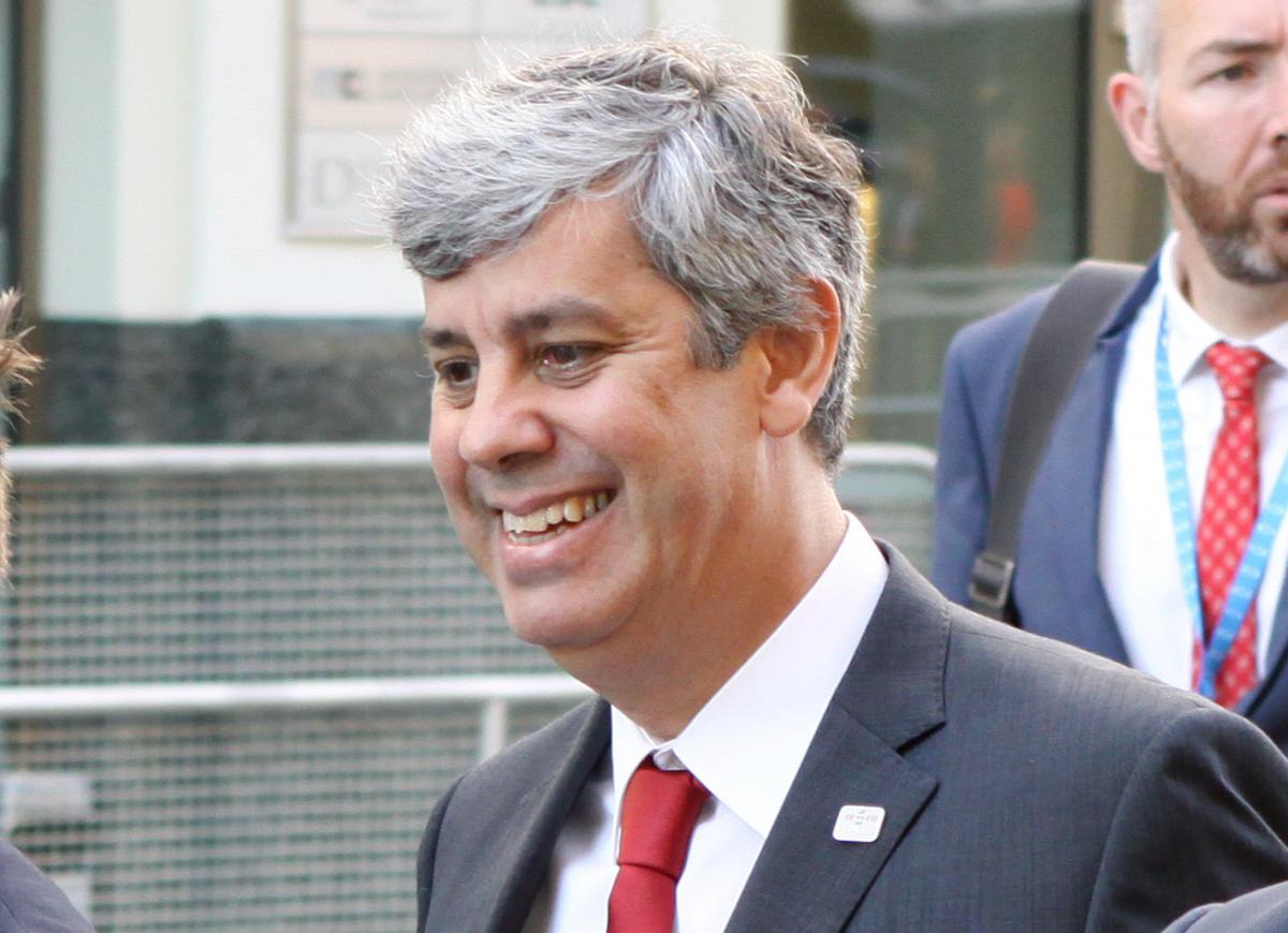 Mario Centeno, minister van financiën van Portugal en voorzitter van de eurogroep
