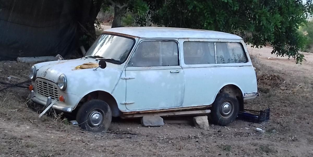 oude mini bestelwagen