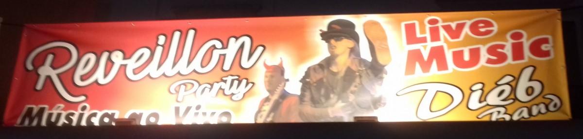 Banner oudejaarsavond albufeira diebband live muziek in Vertigo bar