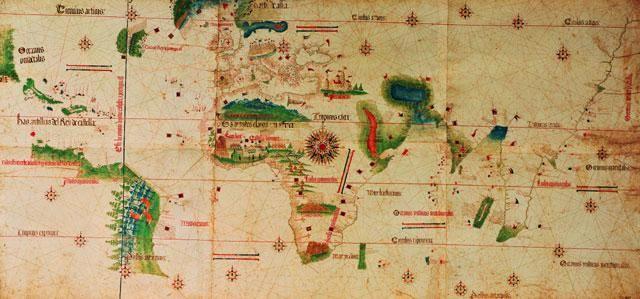 Oudst bekende nautische kaart uit Portugal.