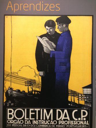 antieke affiche Portugese spoorwegen