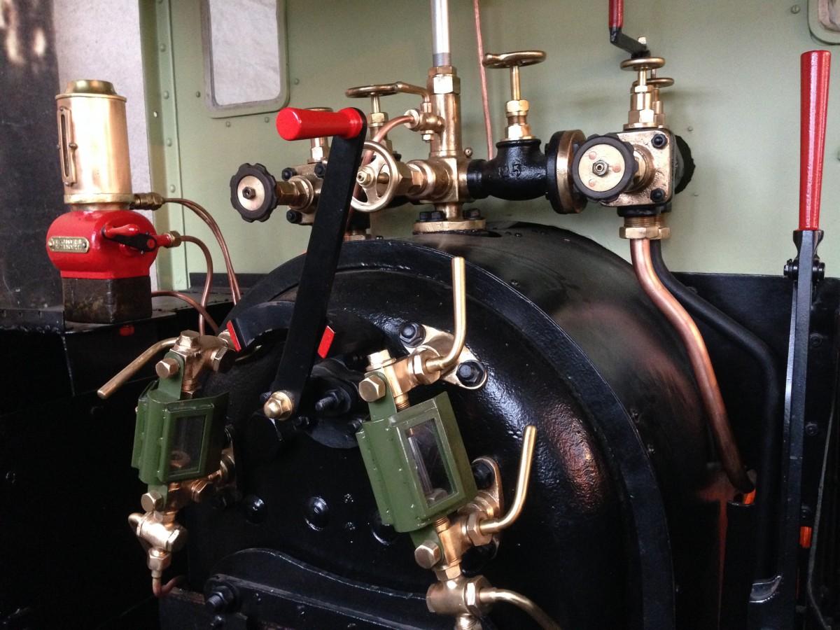 deel van de motor van de trein