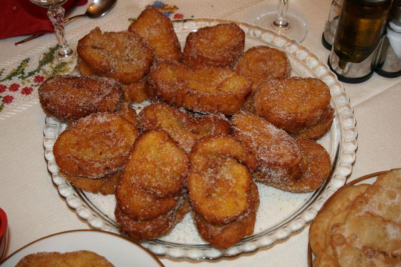 Rabanadas een portugese lekkernij die vooral met oud&nieuw gegeten wordt.